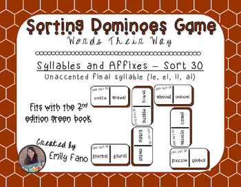 Words Their Way - Syllables and Affixes - Sort 30 Dominoes