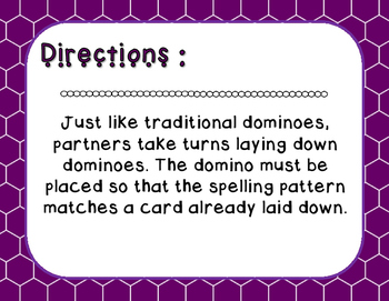 Words Their Way - Syllables and Affixes - Sort 34 Dominoes