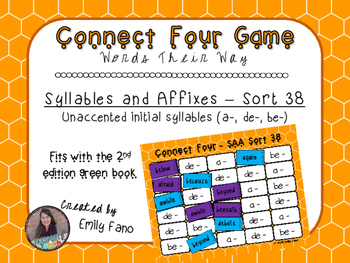Words Their Way - Syllables and Affixes - Sort 38 Connect Four