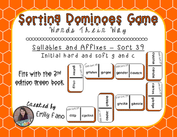 Words Their Way - Syllables and Affixes - Sort 39 Dominoes