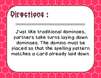 Words Their Way - Syllables and Affixes - Sort 42 Dominoes