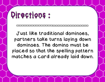 Words Their Way - Syllables and Affixes - Sort 43 Dominoes