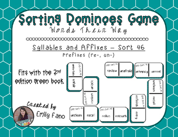 Words Their Way - Syllables and Affixes - Sort 46 Dominoes