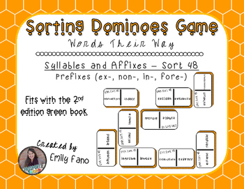Words Their Way - Syllables and Affixes - Sort 48 Dominoes