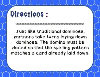 Words Their Way - Syllables and Affixes - Sort 5 Dominoes