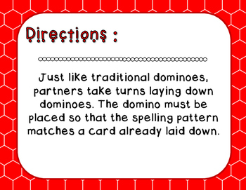 Words Their Way - Syllables and Affixes - Sort 51 Dominoes