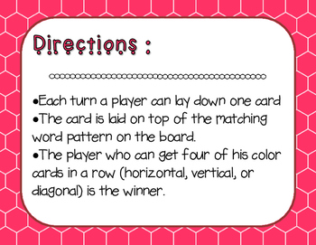 Words Their Way - Syllables and Affixes - Sort 52 Connect Four FREEBIE