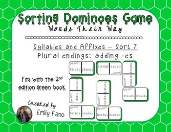 Words Their Way - Syllables and Affixes - Sort 7 Dominoes