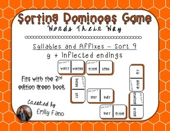 Words Their Way - Syllables and Affixes - Sort 9 Dominoes
