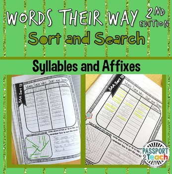 Words Their Way - Syllables and Affixes Sort and Search