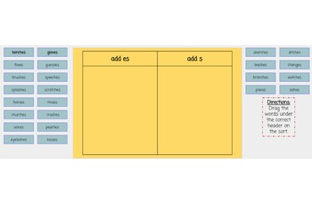 Words Their Way Syllables and Affixes Sorts 1-11 Digital Sorts
