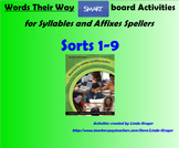 Words Their Way-Syllables and Affixes Sorts 1-9 SMART Boar