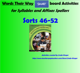 Words Their Way-Syllables and Affixes Sorts 46-52  SMART Board interactive games