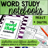 Syllables and Affixes Spellers Word Study Notebook Activities