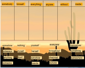 Words Their Way Syllables and Affixes sort 11