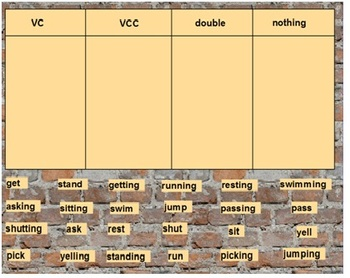 Words Their Way Syllables and Affixes sort 2