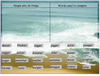 Words Their Way Syllables and Affixes sort 32 flipchart