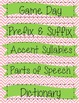 Words Their Way Task Card Labels (Chevron)
