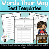 Words Their Way Test Templates
