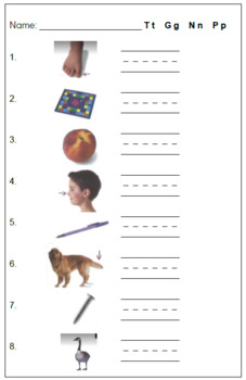 Words Their Way Tests Sorts 1-5 and Parent Explanation for Homework