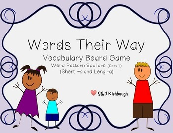 Words Their Way Vocabulary Board Game {Long and Short -a}