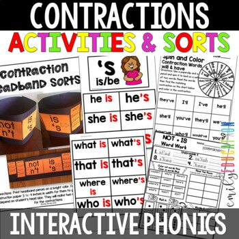 Words Their Way Within Word Pattern Spellers Unit 8 HF Words + Contractions