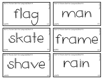 Words Their Way - WWPS Sort Words Unit 1
