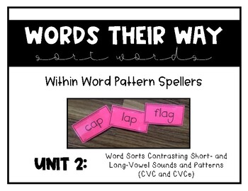 Words Their Way - WWPS Sort Words Unit 2