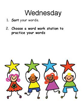 Words Their Way Weekly Notebook