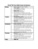 Words Their Way Teacher Weekly Planning Activity Guide