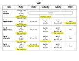 Words Their Way- Weekly Schedule
