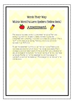Words Their Way: Within Word Pattern Spellers - Assessment & Dictation