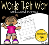 Words Their Way: Within Word Pattern Assessment Paper