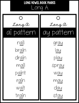 Long Vowel Spelling Pattern