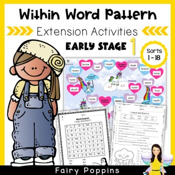 Within Word Pattern Games & Worksheets (Unit 3) CVCe & CVVC Long Vowels