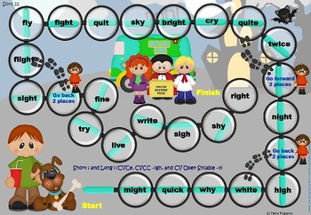 Within Word Pattern Games & Worksheets (Unit 4) Long Vowels