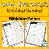 Words Their Way - 2nd Edition - Within Word Pattern Matching Meaning