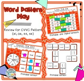 Words Their Way - Within Word Pattern - Sort 18 Dominoes