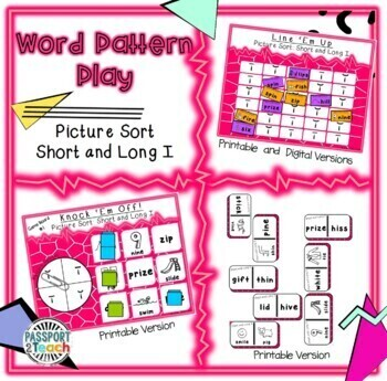 Words Their Way - Within Word Pattern - Sort 2 Connect Four