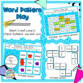 Words Their Way - Within Word Pattern - Sort 21 Connect Four Freebie!!