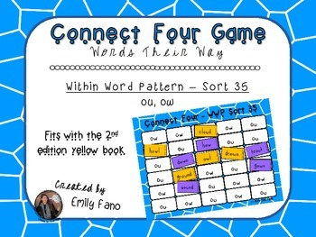 Words Their Way - Within Word Pattern - Sort 35 Connect Four