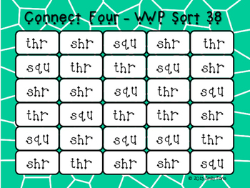 Words Their Way - Within Word Pattern - Sort 38 Connect Four