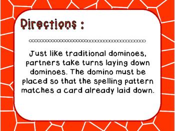 Words Their Way - Within Word Pattern - Sort 40 Dominoes