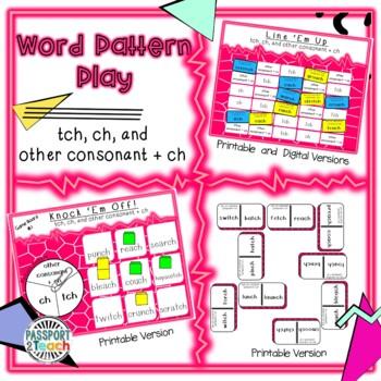 Words Their Way - Within Word Pattern - Sort 42 Dominoes