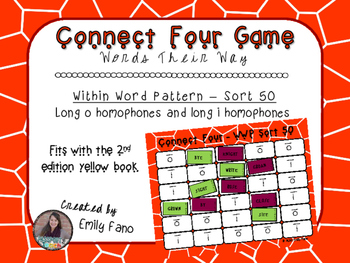 Words Their Way - Within Word Pattern - Sort 50 Connect Four