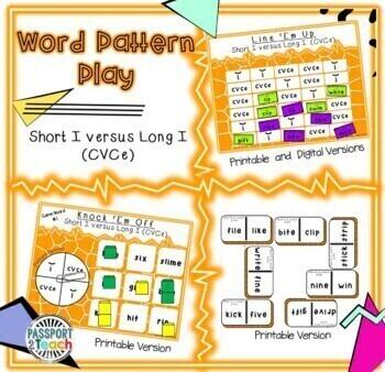 Words Their Way - Within Word Pattern - Sort 8 Dominoes