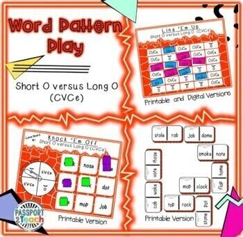 Words Their Way - Within Word Pattern - Sort 9 Dominoes