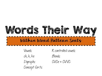 Words Their Way: Within Word Pattern Sorts