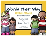 Words Their Way - Within Word Pattern Spellers - A Worksheet for Each Sort