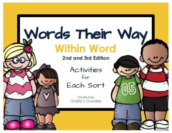 Words Their Way: Within Word Pattern Spellers - NO PREP ACTIVITIES FOR EACH SORT